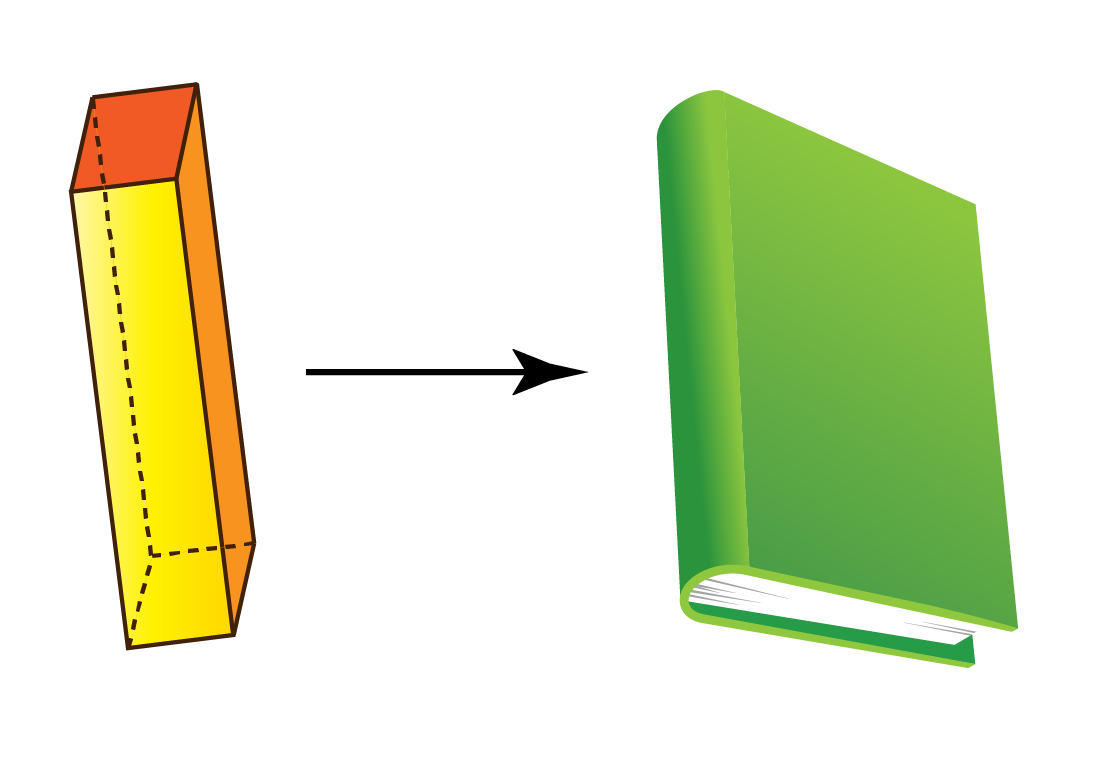 rectangular prism - book is a 3d object with rectangular shape