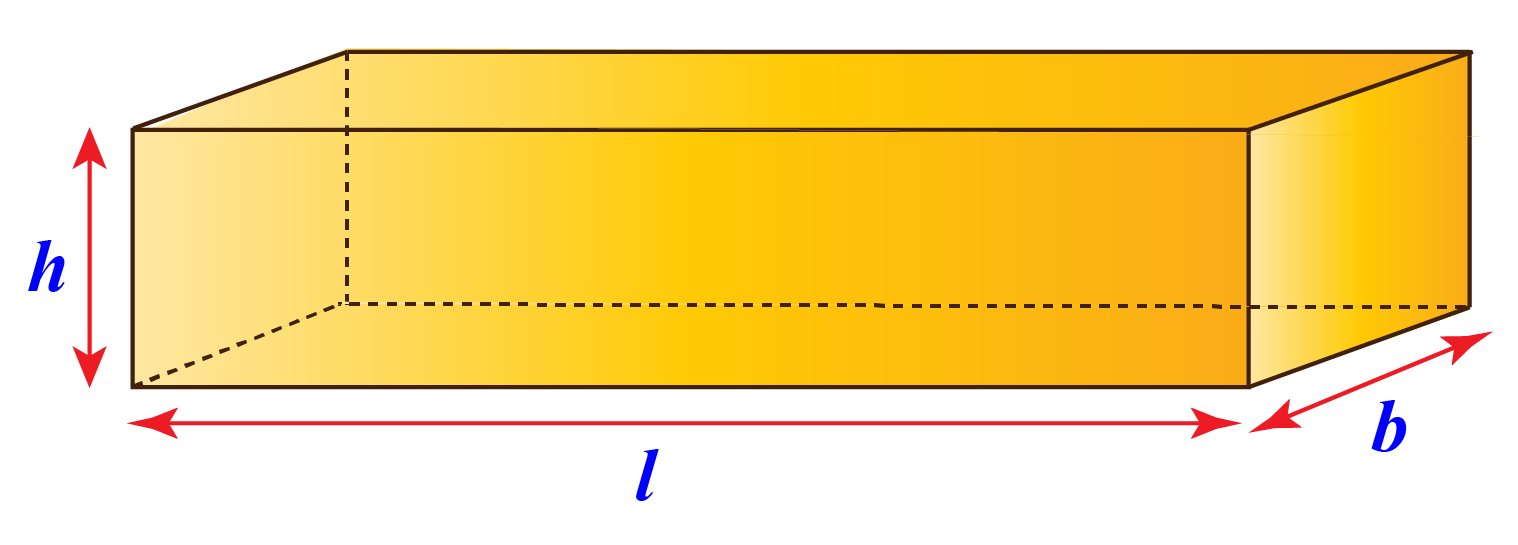Cuboid of length, breadth and height given as 3, 4, and 5 cm respectively.