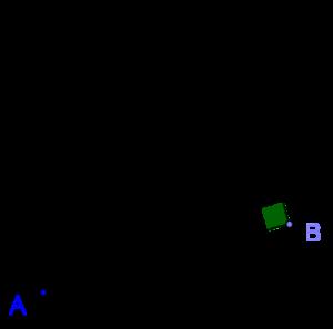 Line perpendicular to AB