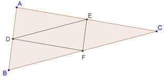 Four smaller congruent triangles