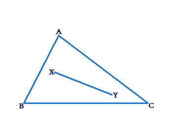 Triangle and line