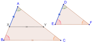 Equi-angular triangles are similar