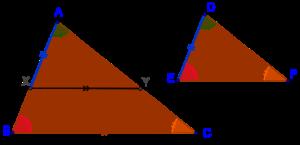 Equi-angular triangles are similar
