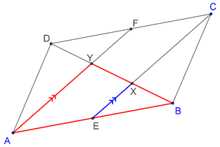 Parallelogram - mid point theorem