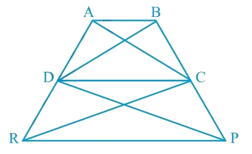 In Fig.9.29, ar (DRC) = ar (DPC) and ar (BDP) = ar (ARC). Show that both the quadrilaterals ABCD and DCPR are trapeziums.