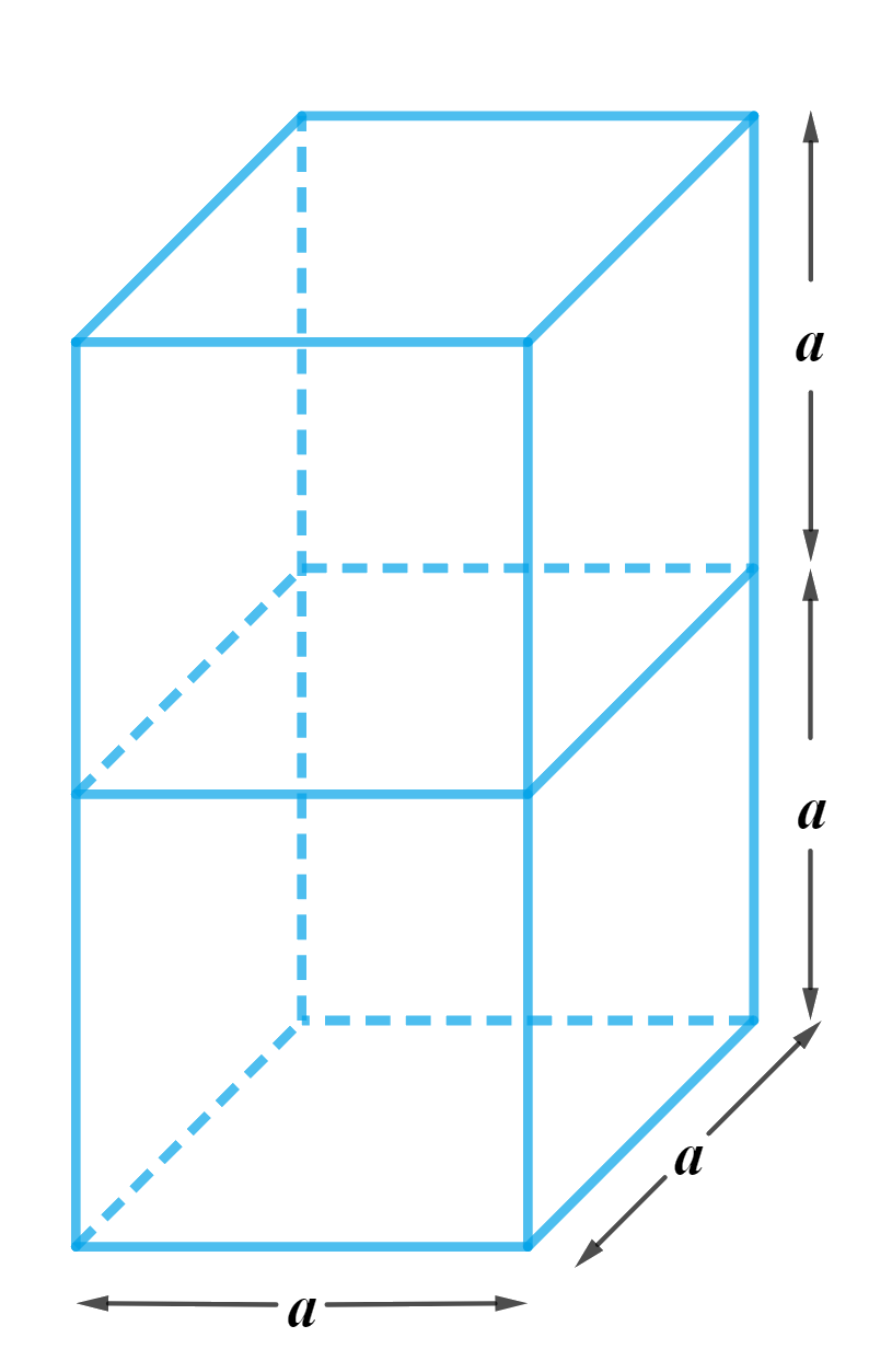 2 cubes each of volume 64 cm