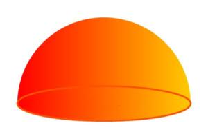 Symmetrical 3-dimensional hemisphere