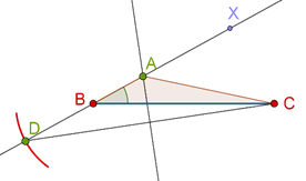Perpendicular bisector and ray