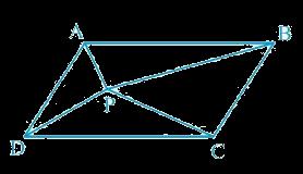 In Fig. 9.16,P is a point in the interior of a parallelogram ABCD. Show that (i) ar (APB) + ar (PCD) = 1/2 ar (ABCD) (ii) ar (APD) + ar (PBC) = ar (APB) + ar (PCD)