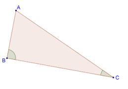 Smaller angle opposite smaller side