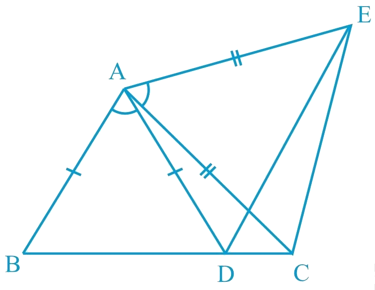 In the given figure, AC = AE, AB = AD and ∠BAD = ∠EAC. Show that BC = DE.