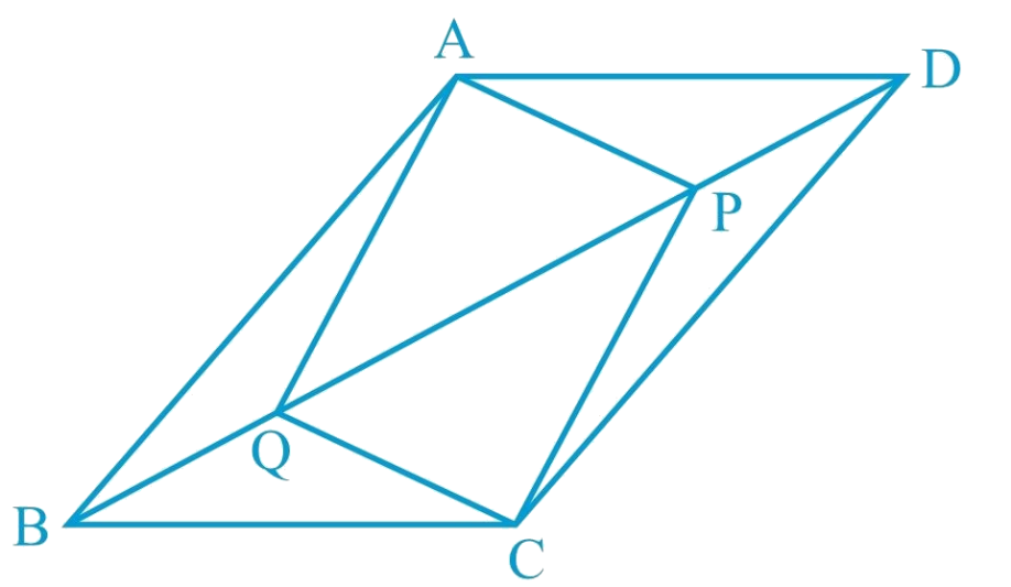 parallelogram property for the triangles