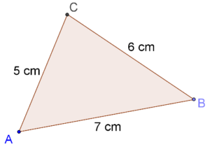 Area of triangle = ½ × base × height