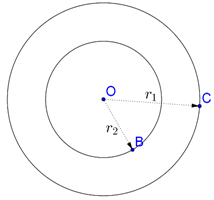 Concentric circles and their radii