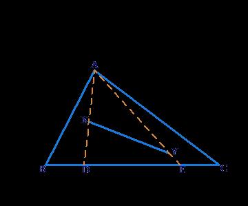 Triagle and line segment