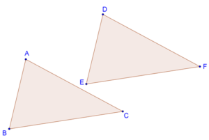 Two congruent triangles