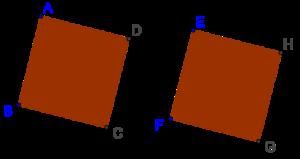 Congruent squares
