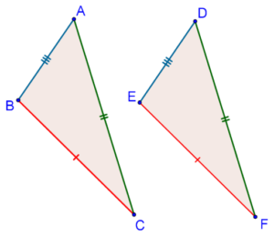 Triangle's equal corresponding sides
