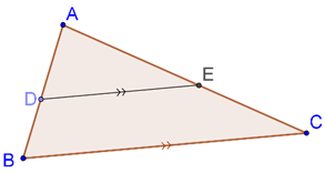 Line parallel to base of triangle