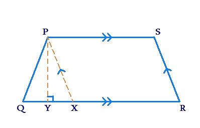 Solution of area of trapezium