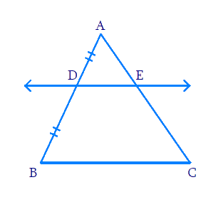 Using Theorem 6.1, prove that a line drawn through the mid-point of one side of a triangle parallel to another side bisects the third side. (Recall that you have proved it in Class IX)