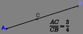 Dividing line proportionally