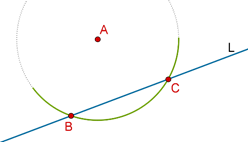Line, point and arc