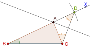 Intersecting perpendicular bisector with ray