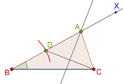 Perpendicular bisector of vertex