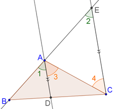 corresponding and alternate interior angles