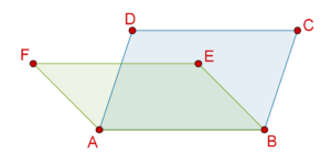 Parallelograms with same base