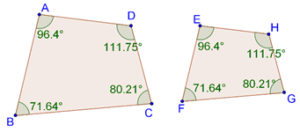 Similar quadrilaterals