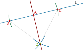 Perpendicular intersection
