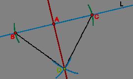 Perpendicular intersection