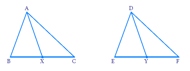 Pair of medians of triangles