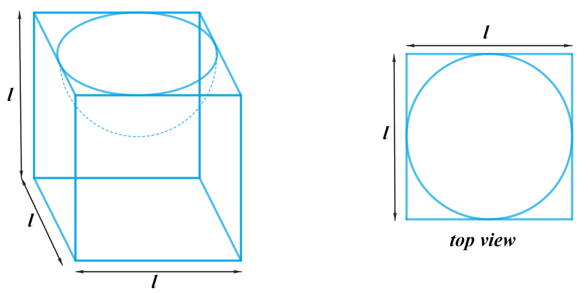 A hemispherical depression is cut out from one face of a cubical wooden block such that the diameter