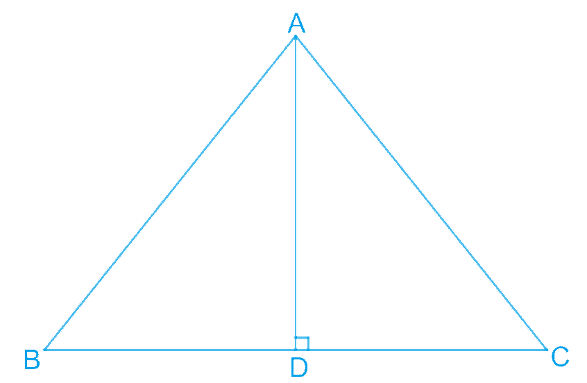 AD is an altitude of an isosceles triangle ABC in which AB = AC. Show that (i) AD bisects BC (ii) AD bisects ∠A