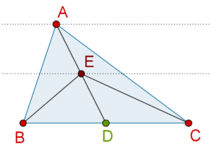 Midpoint of median of a triangle
