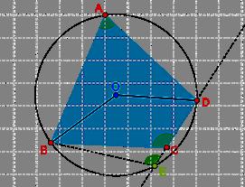 Non-concyclic quadrilateral