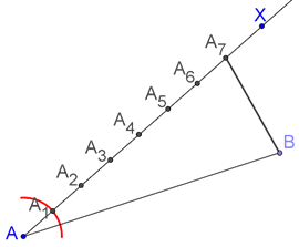 Side of a triangle divided internally
