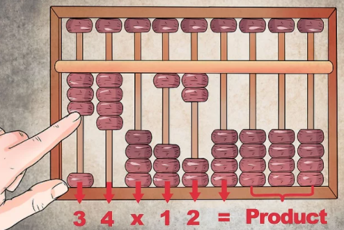 Multiplication of two numbers in abacus