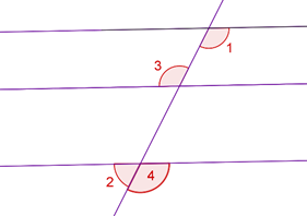 Parallel lines and corresponding angles