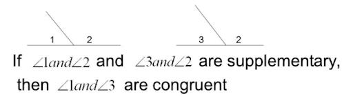 Congruent Supplements Theorem Image