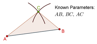 Triangle and Arcs - known parameters