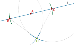 Perpendicular intersecting
