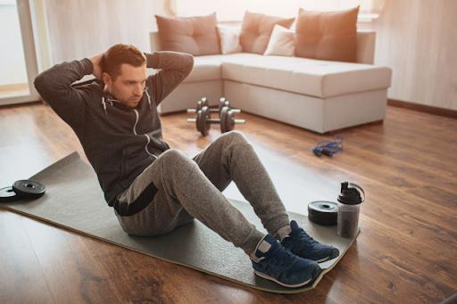 Guy doing exercising