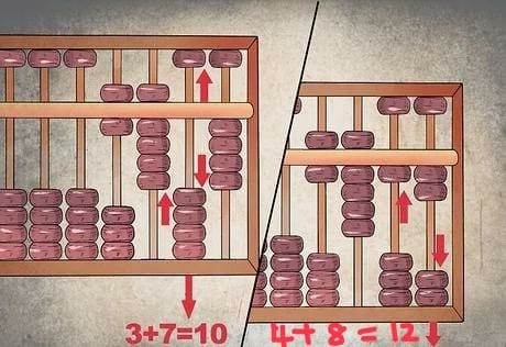 Addition using Abacus