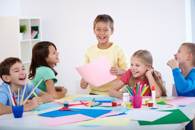 Kids learning with joy