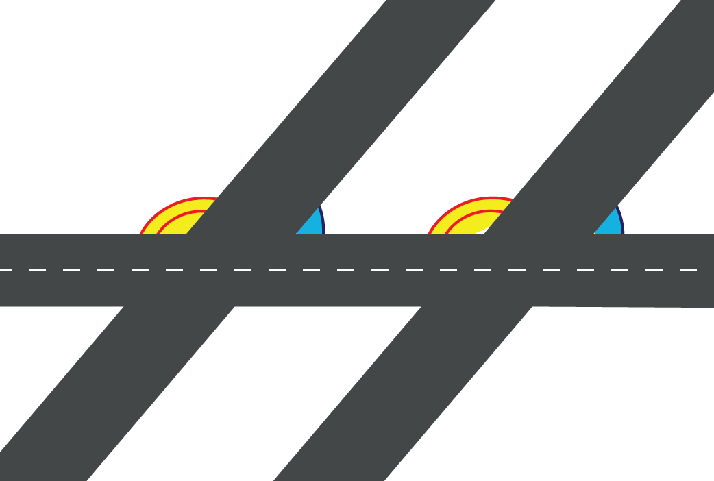 Intersection of roads
