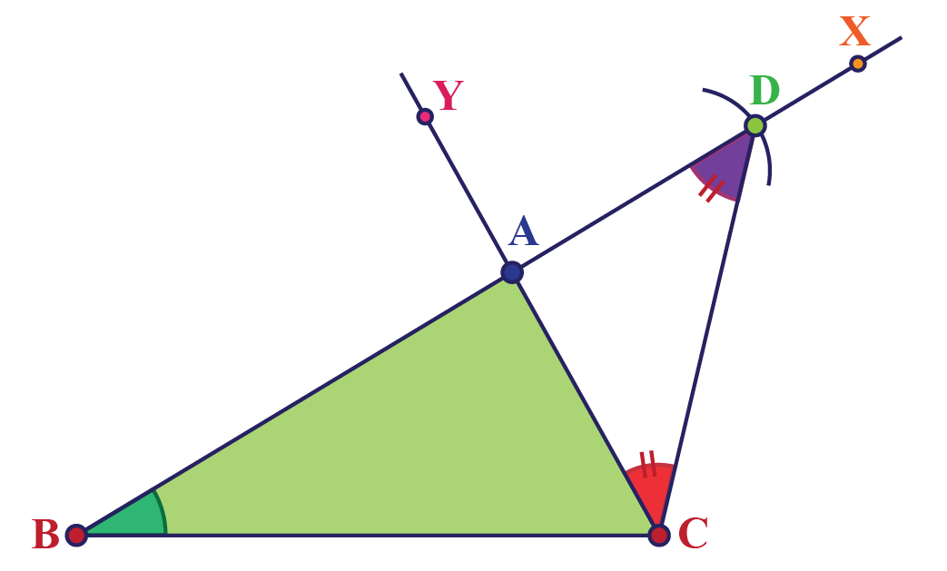Triangles and arcs